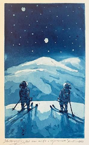 Bilde av Det var midt i stjernenatt av Kristian Finborud