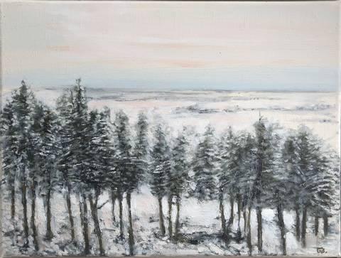 Bilde av Vinter II, landskap av Geir Brohjem