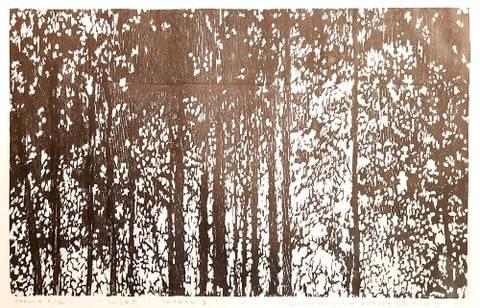 Bilde av Suset i skogen II av G. Vegge & E. L. Kolsrud m/ramme