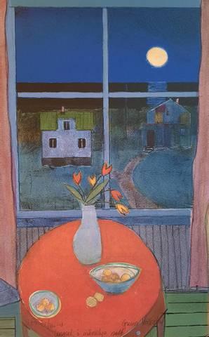 Bilde av Lengsel i månelys natt av Gunn Vottestad