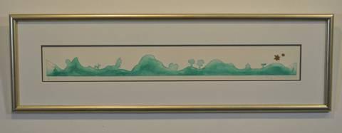 Bilde av Bare en bakke til m/ramme (grønn) av Bjørg Thorhallsdottir