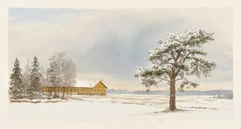 Bilde av Låven på Horne av Einar Sigstad