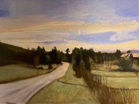 Bilde av Landevei av Asbjørn Petershagen